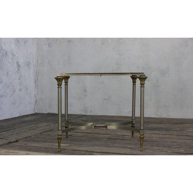Small Italian Steel and Glass End Table - Image 4 of 11