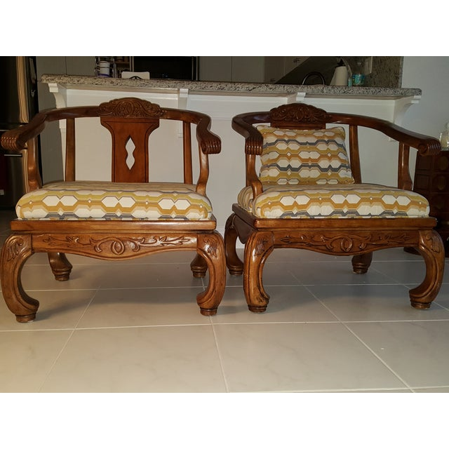 Thomasville Scroll Accent Chairs - Pair - Image 3 of 5