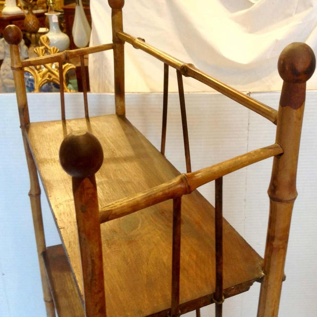 19th Century English Bamboo Bookstand / Étagère For Sale - Image 12 of 13