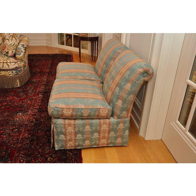 Contemporary Piedmont Brunschwig & Fils Scroll Back Armless Slipper Chairs- A Pair For Sale - Image 3 of 5