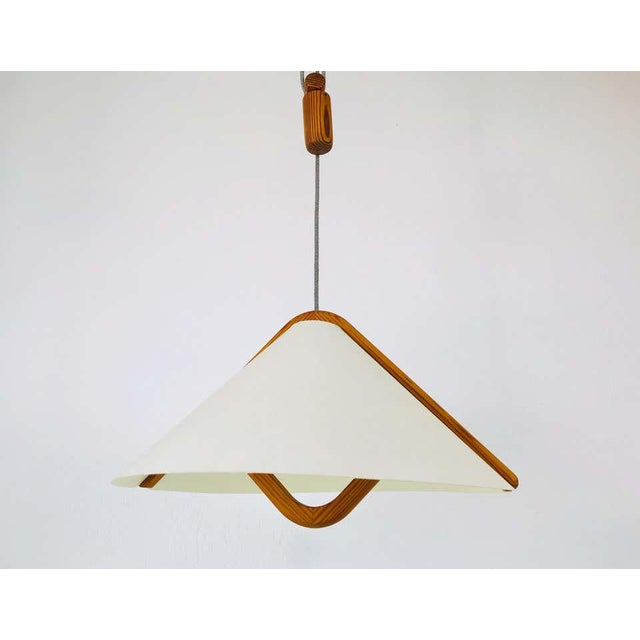 Adjustable Midcentury Wooden Pendant Lamp with Counterweight by Domus, 1960s For Sale - Image 12 of 13