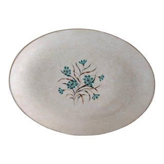 1950s Shabby Chic Cream Floral Serving Platter