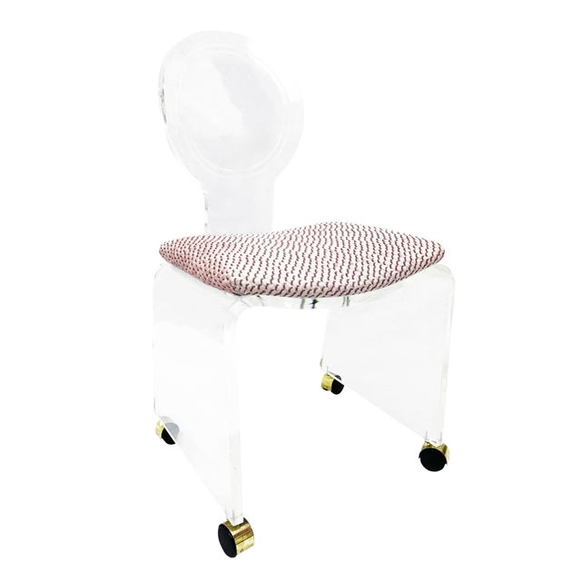 1970s Regency Hill Mfg. Lucite Waterfall Side Chair For Sale In Washington DC - Image 6 of 6