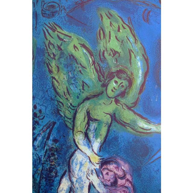 Original 1967 Poster Marc Chagall Le Message Biblique (Blue) For Sale - Image 4 of 5