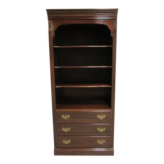 Ethan Allan Georgian Court Chippendale Bookcase For Sale