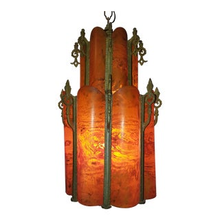 Art Deco Jazz Age Bakelite Chandelier