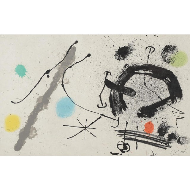 "Mediterranean Joan Miro ""Abstract"" Original Lithograph, Signed For Sale - Image 3 of 10"