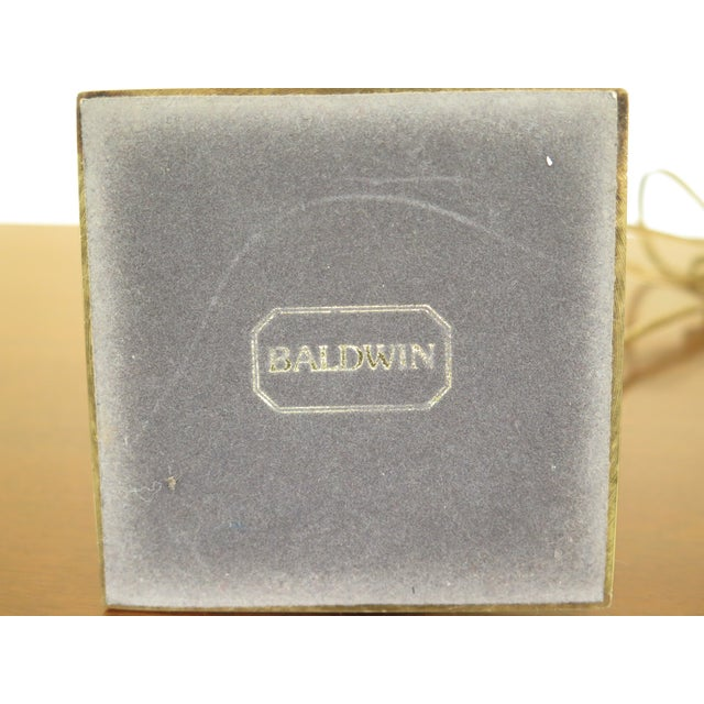 2010s Baldwin Brass Candlestick Lamp For Sale - Image 5 of 6