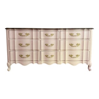 1960s French Provincial Lowboy Dresser For Sale