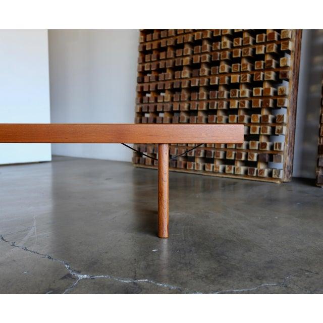 """Mid-Century Modern Teak """"Krobo'' Bench by Torbjørn Afdal for Bruksbo For Sale - Image 3 of 11"""