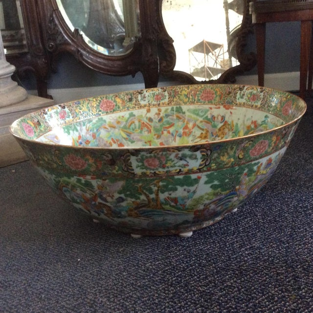 Asian Chinese Export Punch Bowl For Sale - Image 3 of 9