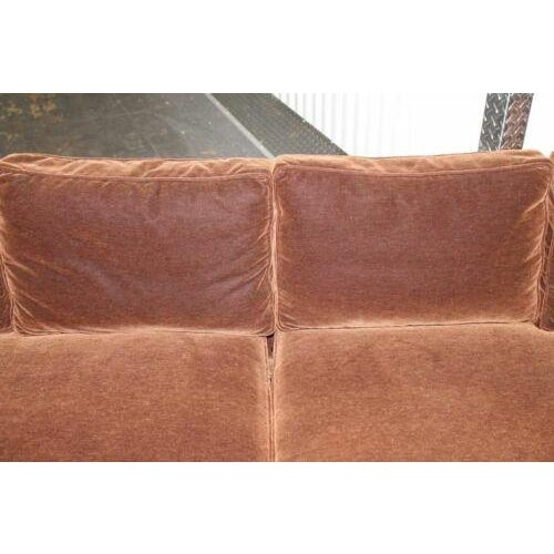 Vintage Newly Reupholstered Chocolate Brown Mohair Sofa For Sale In Miami - Image 6 of 8