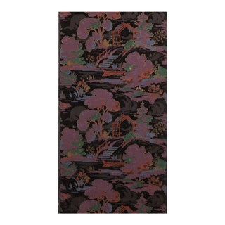 Late 19th Century Vintage Black & Purple Wallpaper For Sale