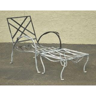 Salterini Vintage Wrought Iron Patio Garden Lounge Chair W/ Ottoman Preview