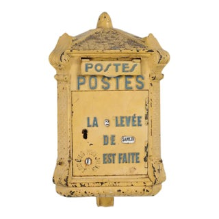 Antique French Mailbox From the Early 1900s For Sale