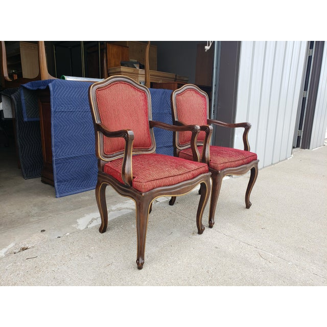 Vintage Henredon French Regency Armchairs- a Pair For Sale - Image 6 of 11