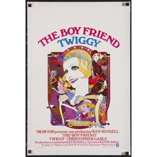 """Belgian 1971 Poster of Twiggy in """"The Boy Friend"""""""