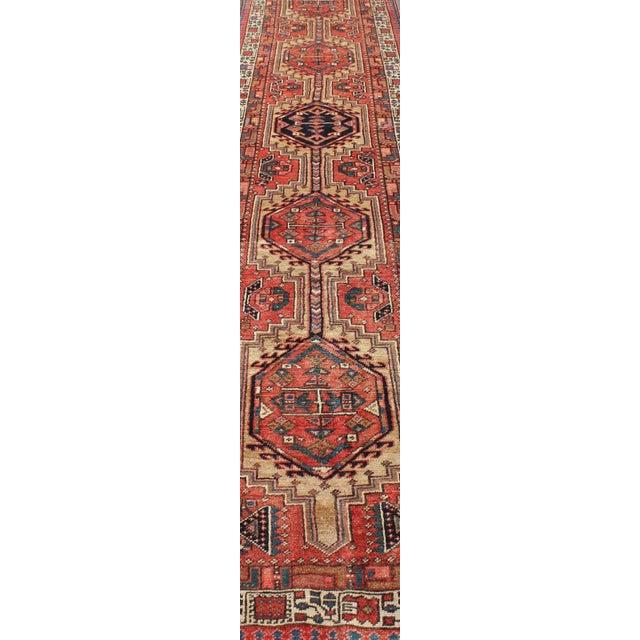1950s Semi Antique Karadjeh Runner Rug - 3′6″ × 15′6″ For Sale - Image 10 of 13