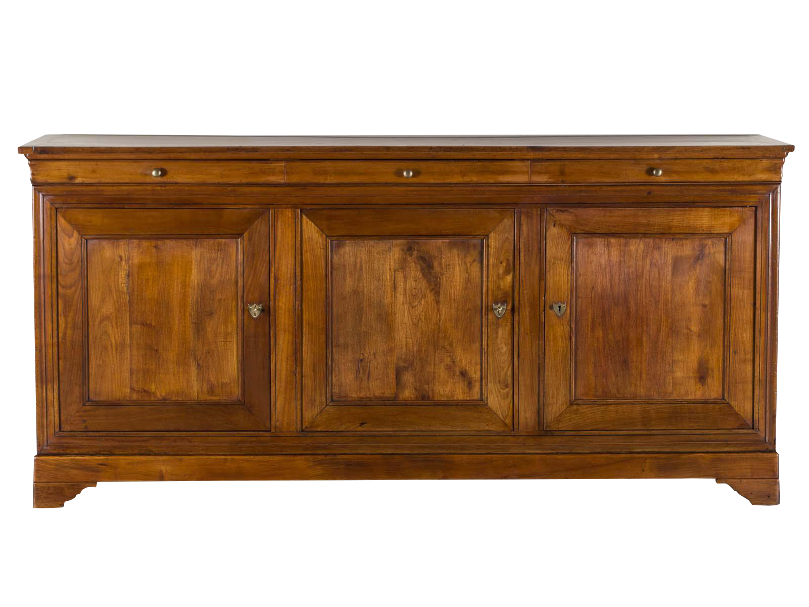 Antique french louis philippe cherry buffet enfilade circa 1875 image 1 of 12