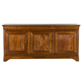 Antique French Louis Philippe Cherry Buffet Enfilade circa 1875