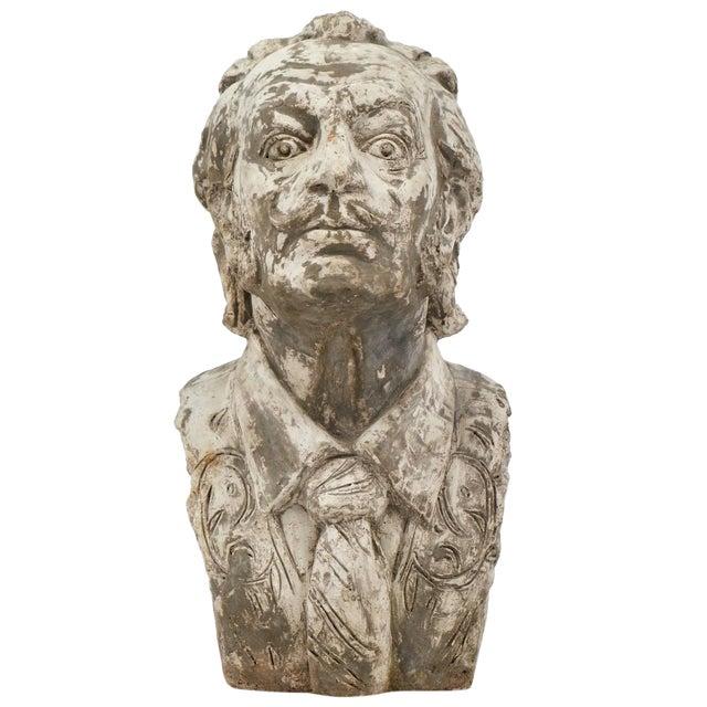 Salvador Dali Vintage Stone Sculpture Bust For Sale