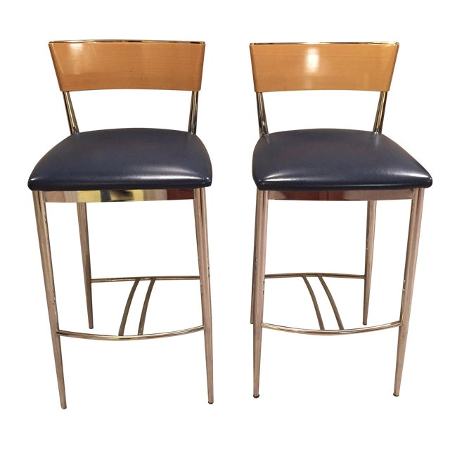 Loewenstein Modern Bar Stools - A Pair - Image 1 of 8