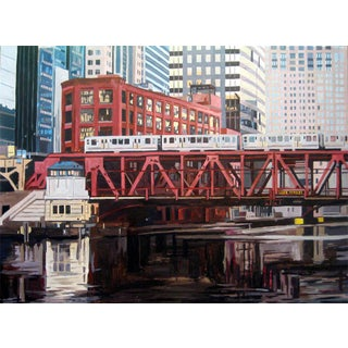 Contemporary Giclee Print - Bridge at Lake St For Sale