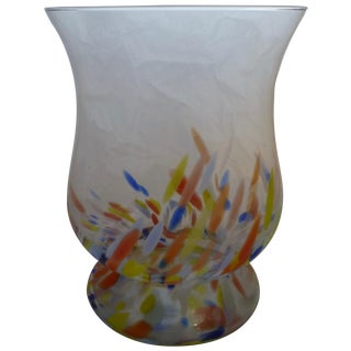 1960's Large Bohemian Glass Vase For Sale
