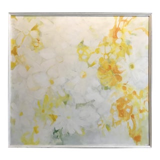 Mid Century Floral Abstract Anita Simpson 1960s For Sale