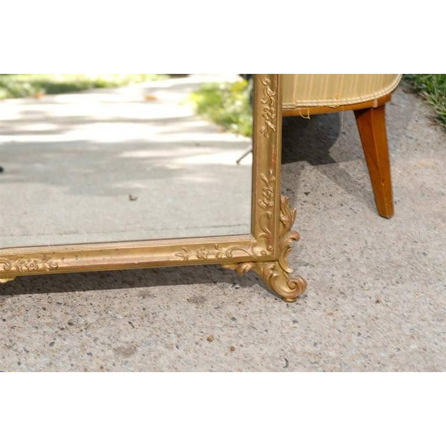 Italian Hand-Carved Rococo Gilt Mirror For Sale - Image 4 of 6