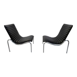Stunning Pair Kho Liang Ie Model 703 Lounge Chairs For Stabin, Netherlands 1968