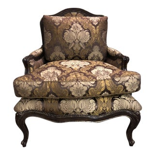 Marge Carson Upholstered Club Chair For Sale