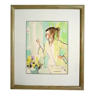 Vintage Water Painting by Butterfield For Sale