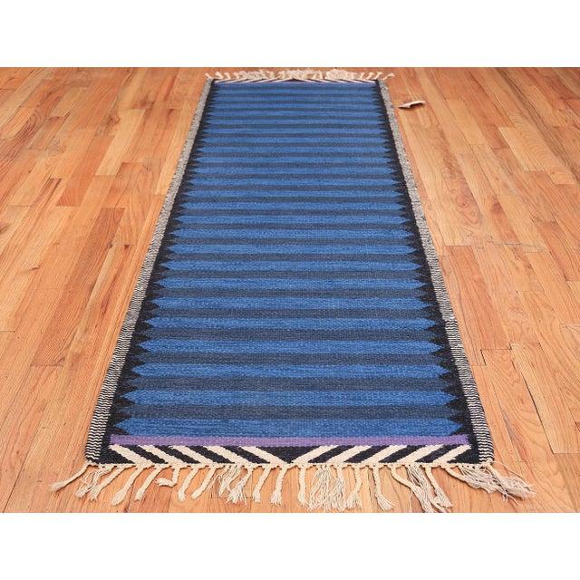 Vintage Scandinavian Swedish rug, Sweden, mid-20th century. Here is a beautiful, elegant vintage Scandinavian rug, a...