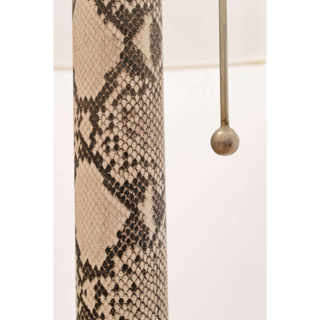 Metal Faux Python Floor Lamp For Sale - Image 7 of 8