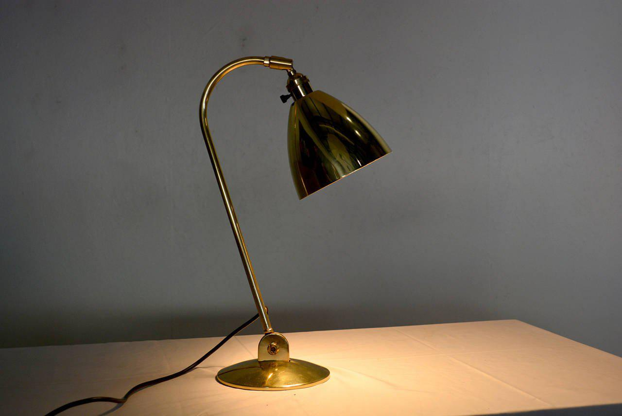 Brass Desk Lamp OMI British   Image 10 Of 10