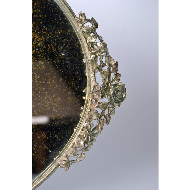 Art Deco Pewter Mirrored Tray - Image 7 of 9