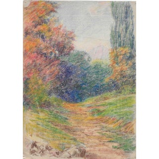 1920s California Mountain Path Drawing Harnett For Sale