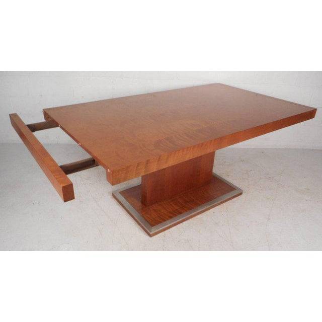 Large Midcentury Modern Burl Dining Table Chairish - Large mid century modern dining table