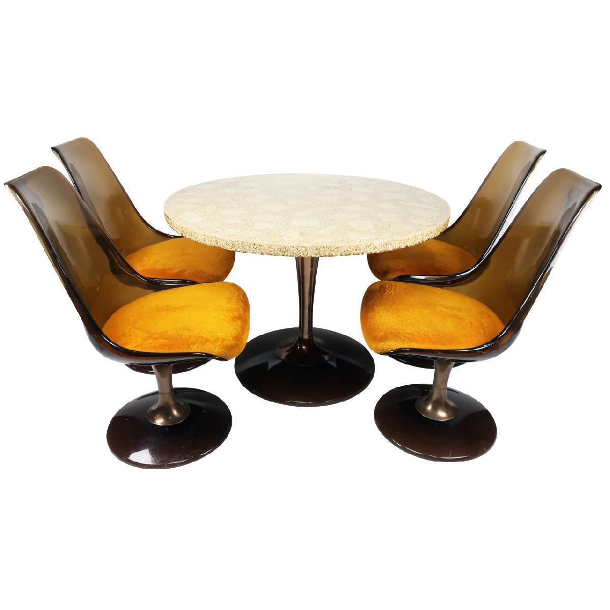 Chromcraft Amber Lucite Tulip Table \u0026 Chairs - Set of 5  sc 1 st  Chairish & Chromcraft Amber Lucite Tulip Table \u0026 Chairs - Set of 5   Chairish