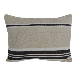 Vintage Woven Tribal Artisanal Textile Decorative Bolster Pillow For Sale