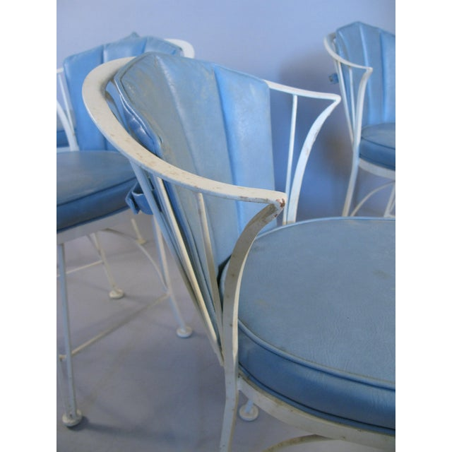 1950s 1950s Vintage Woodard Pinecrest Chairs with Original Cushions - Set of 4 For Sale - Image 5 of 10