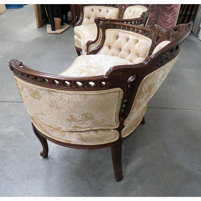Louis XV Style Marquis Chairs - a Pair For Sale - Image 4 of 12