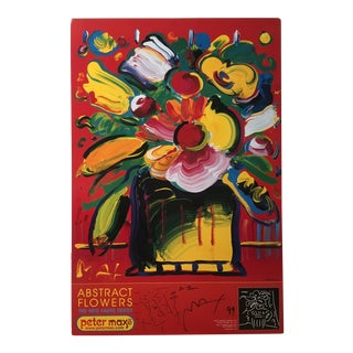 """1990s """"Abstract Flowers"""" Neo-Fauve Series Signed Poster by Peter Max For Sale"""