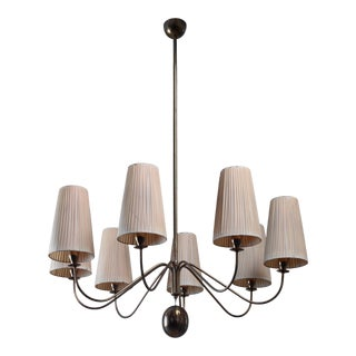 Early 8 Armed Chandelier by j.t. Kalmar For Sale