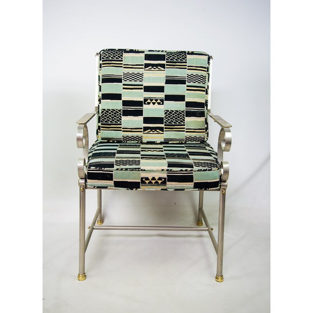 Mid-Century Modern Maison Jansen Mid-Century Chrome Armchair For Sale - Image 3 of 9