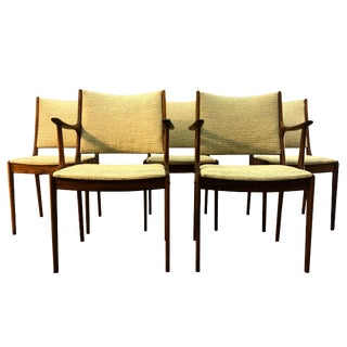 Danish Rosewood Dining Room Chairs - Set of 5
