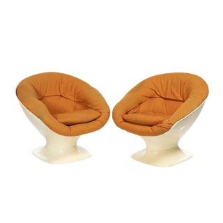 Vintage Mid-Century Italian Mario Brunu Style Lounge Chairs -A Pair For Sale