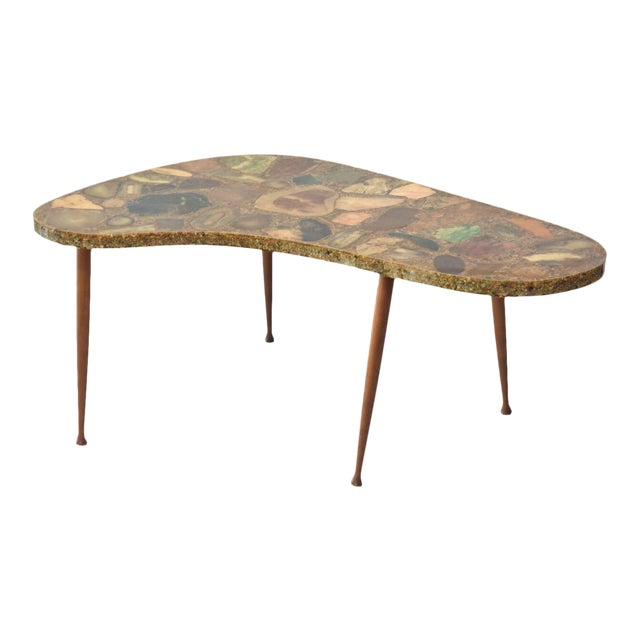Italian Modern Specimen Marble, Resin and Walnut Low Table, Aldo Tura For Sale