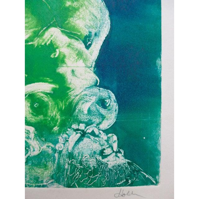 Mermaid in Green Monoprint - Image 4 of 4